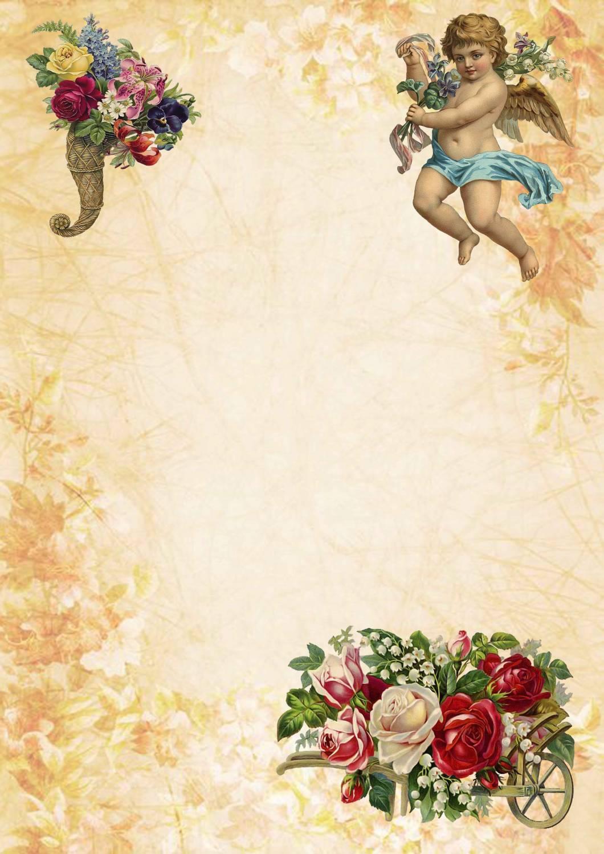 Красивый лист для открытки 873